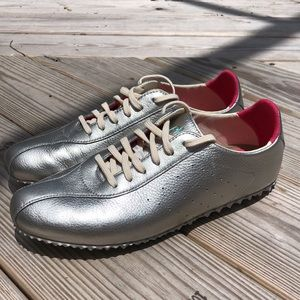NEW! PLAE Rockstar Packable Leather Sneakers